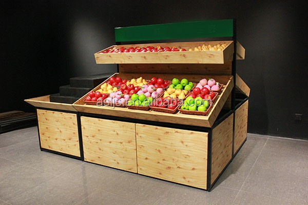 Shop vegetable and fruit displays display stand rack counters