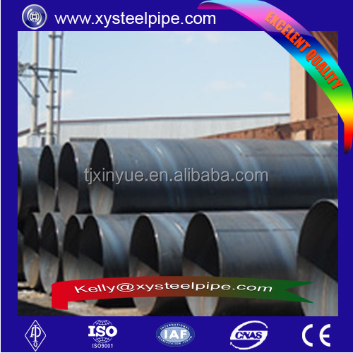 API X42 Irrigation spiral Steel Pipeline With 2PE Paint Coating, construction pipe, building materials