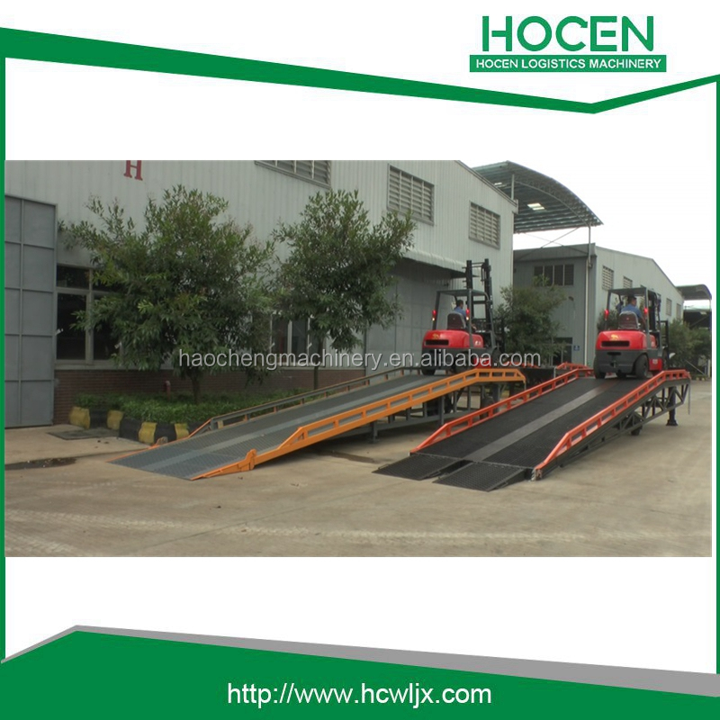 Used Mechanical Adjustable Dock Leveler/ Hydraulic Stationary Dock Leveler Price/ Car Hydraulic Ramp Trailers Loading Car Ramp
