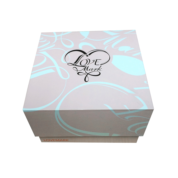 Customized elegant paper high end gift boxes