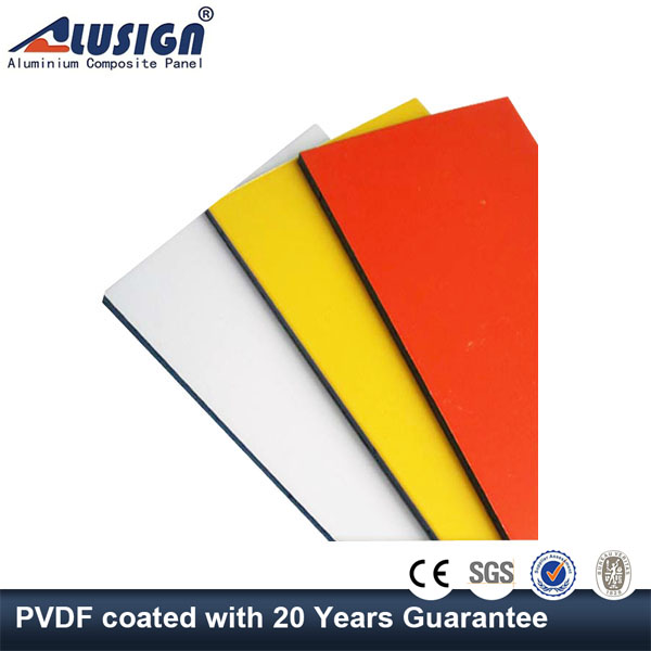 Alusign 2015 PVDF/PE coated acp sheet acp cladding prices