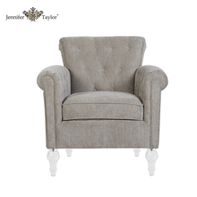 wood frame fabric upholstery furniture living room armchair/ acrylic legs single sofa chair