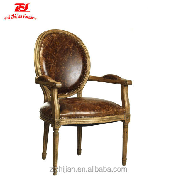 Commercial Furniture General Use and Antique Appearance antique wood chair arm chair french style solid chair with armrest
