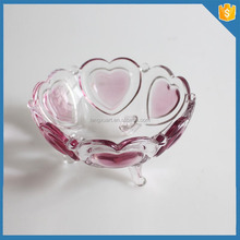LXHY New Year Christmas Gift home Decorative glass tableware engraved big glass bowl