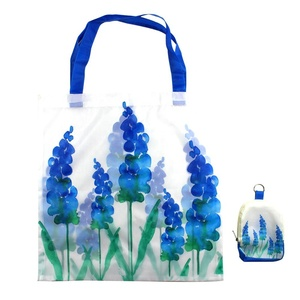 Wholesale Custom Free Sample Rpet Polyester Foldable Printed Tote Shopping Bag