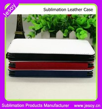 JESOY Heat Transfer blank sublimation flip leather phone cover case for lg g4