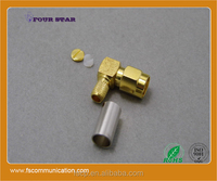 SMA Connector Male Crimp Rignt Angle for LMR200 Cable