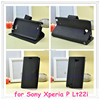 Wallet Stand PU Leather Folio phone Case Cover Card Holder Slot for Sony Xperia Neo MT15I / for Xperia P Lt22i