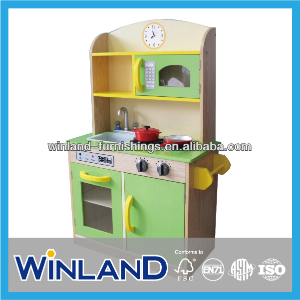 Kids Pretend Play Wooden Kitchen Sets Toy
