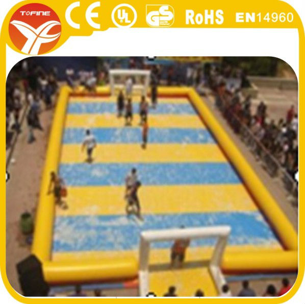 2015 inflatable water soccer field