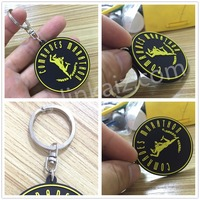 pvc custom tag key ring chain with your own logo