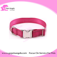 Hot selling Reflective nylon dog collar with metal buckle new pets products wholesale
