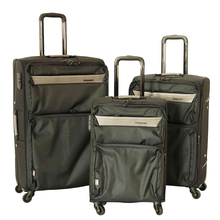 Leisure design 3pc set 20 24 28 inch 4 wheels wholesale soft fabric travel trolley luggage suitcase sets
