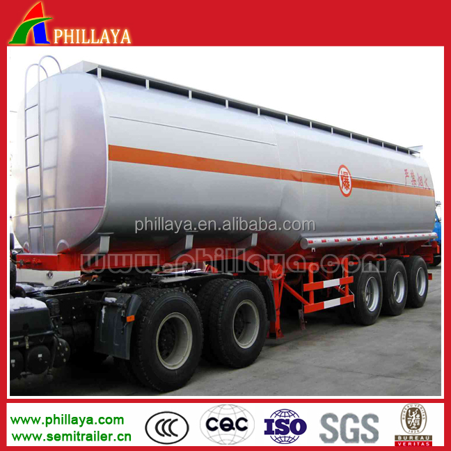 Fuel Tank Semi-Trailer Double Hull Oil Tanker For Sale