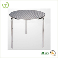 Aluminum bar/cafe table for outdoor and indoor use from China