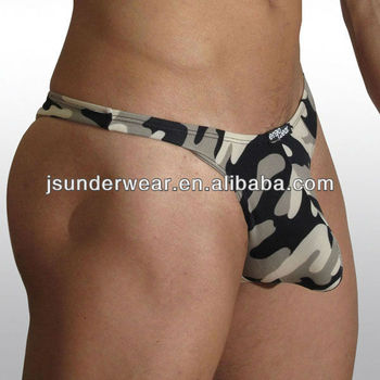 Camouflage Thong Underwear Custom Made Factory Price