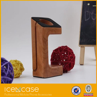 wholesale new design portable wooden holder charging stand for apple watch