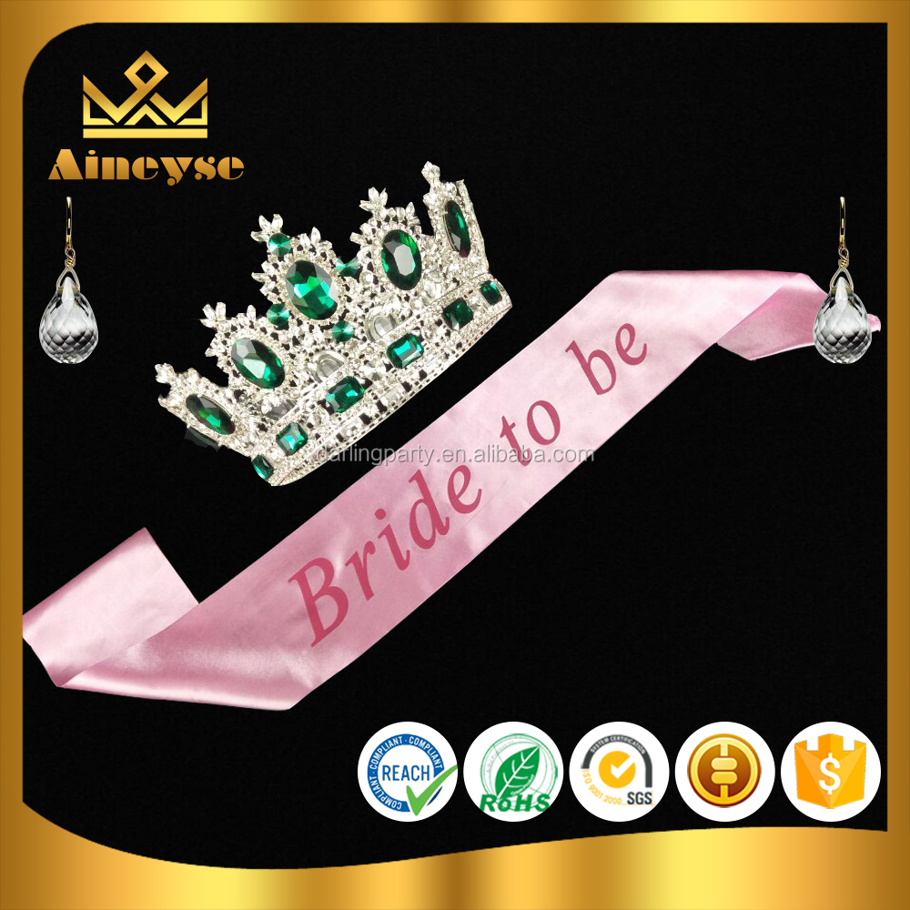 Bride To Be pink Wedding Sash belt for Hen Pary Decoration
