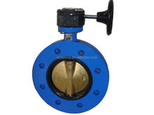 Dn150 U type wafer ductile iron butterfly valves
