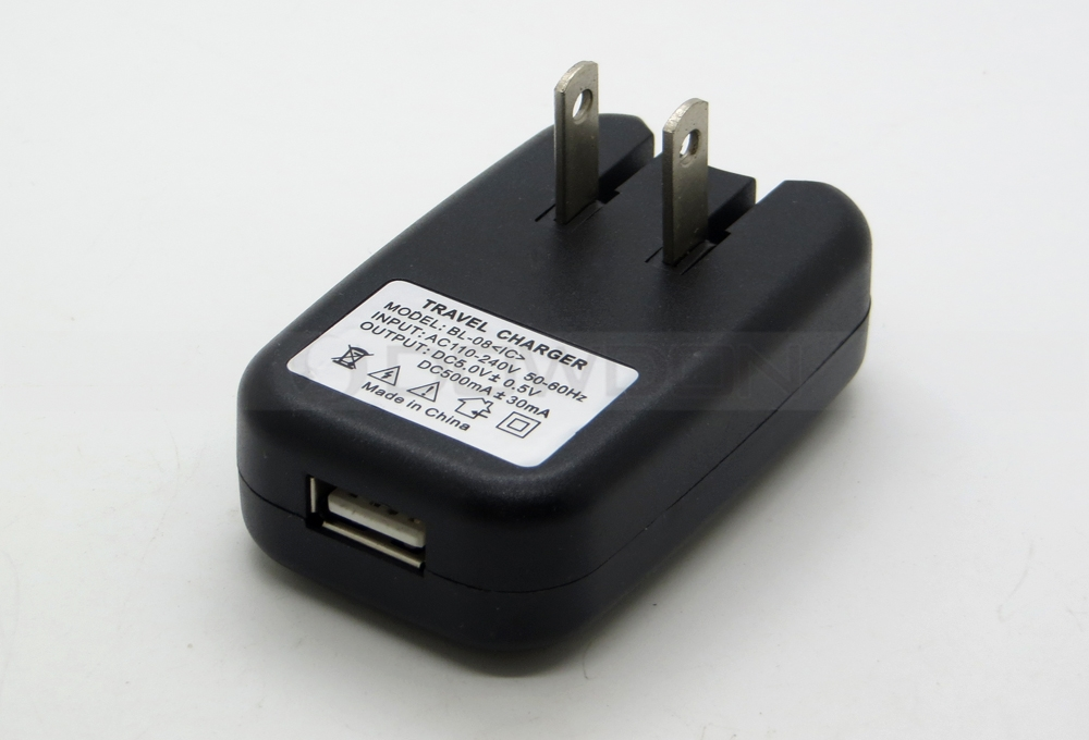 USB Wall Charger 5V 500mA for iPod MP3 MP4 Player US Plug Power Adapter Charger