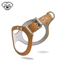 Soft supreme comfortable leather pet dog harness
