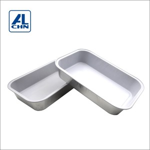 14.1 O.Z Disposable Aluminum Foil Tray Heat Seal Casserole For Inflight Meal China Factory