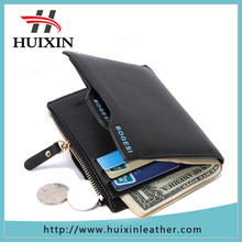High Quality Leather Wallet Manufacturer Direct Zipper Card Holder Men Purse Wallet Casual