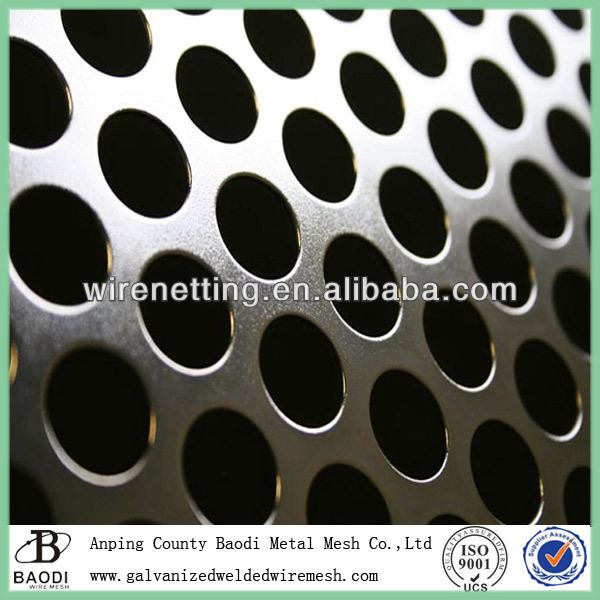 round hole black cross perforated metal