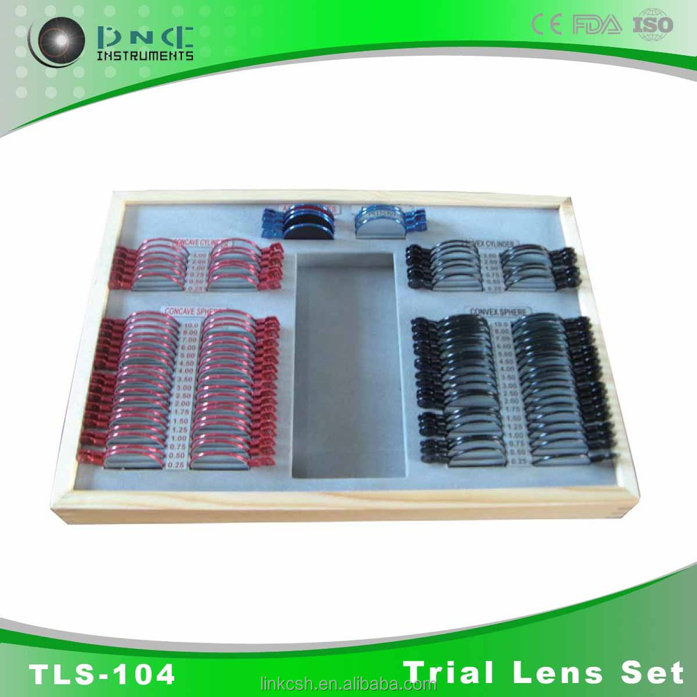 China optical equipment and top sale ophthalmic instrument trial lens set price TLS-104