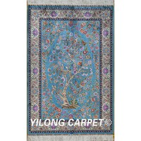 Yilong 3'x4.5' lovely tree of life pictorial hand made silk carpet