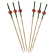 Disposable bead color bamboo skewers