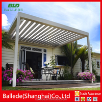 Motorised aluminium gazebo with metal roof