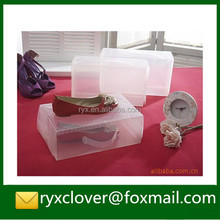 Clear PVC/PP plastic shoe packaging box with handle