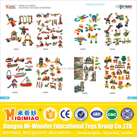 European standard newly developed Safety material plastic and wooden educational toys for kids