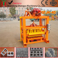 QTJ4-40 small clay cement brick making machine used concrete block making machine price brick factory made in China india