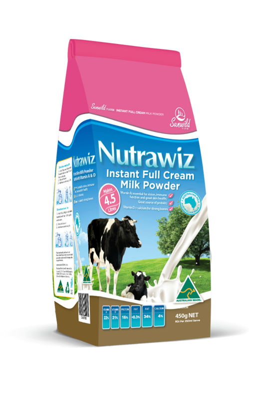 Nutrawiz Instant Full Cream Milk Powder 100% Australian made