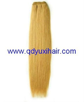 factory cheap double stitched hair extension weft
