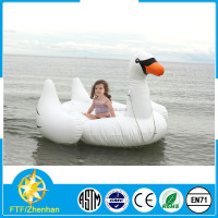 Giant inflatable float swan water toys,floating swan