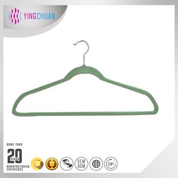 Plastic hanger with logo cheap velvet hanger
