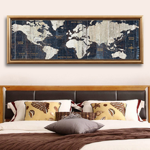 world map canvas on linen matt art canvas
