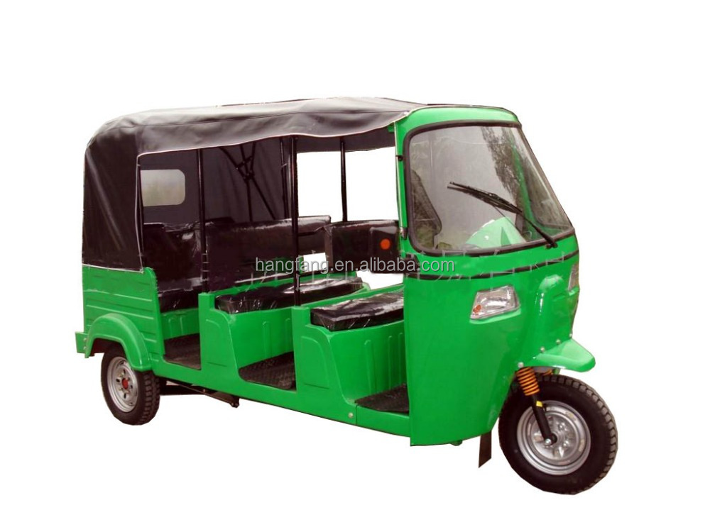 3Rows Bajaj Tricycle with Rear Engine, 4-6Passengers Bajaj Tricycle, 3Rows Tuktuk, TVS tricycle