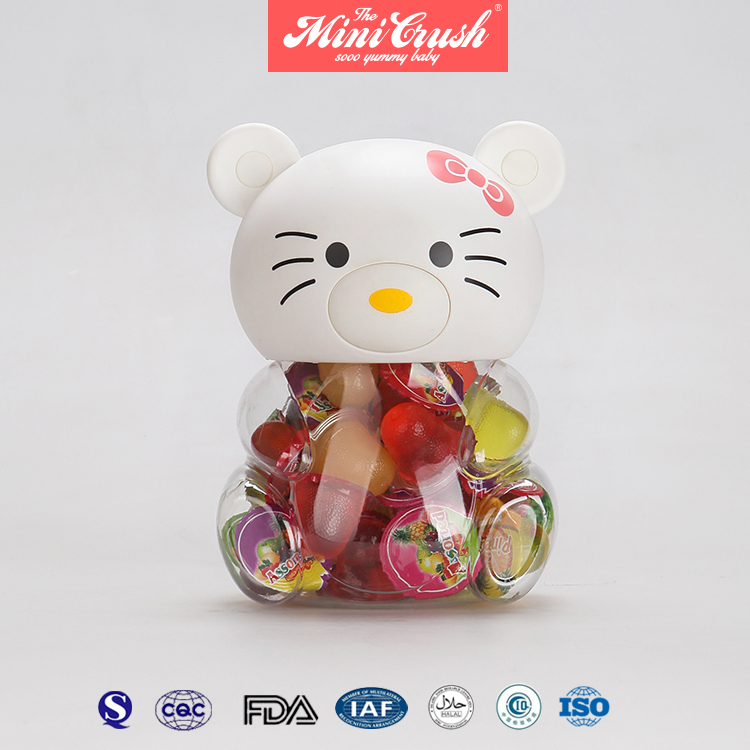 Assorted Fruit Flavour Lychee Coconut Jelly Cups In Baby Candy Doll Jar