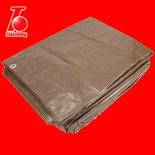 20' x 30' Super Heavy Duty 16 Mil Brown Poly Tarp Cover - Thick Waterproof, UV Resistant, Rot, Rip and Tear Proof Tarpaulin with