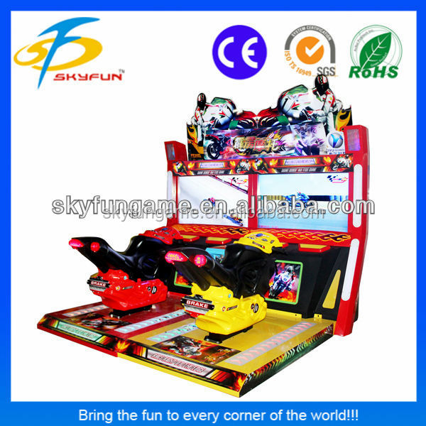 42 inch Thunderbolt Motor indoor moto gp simulator arcade game machine sale