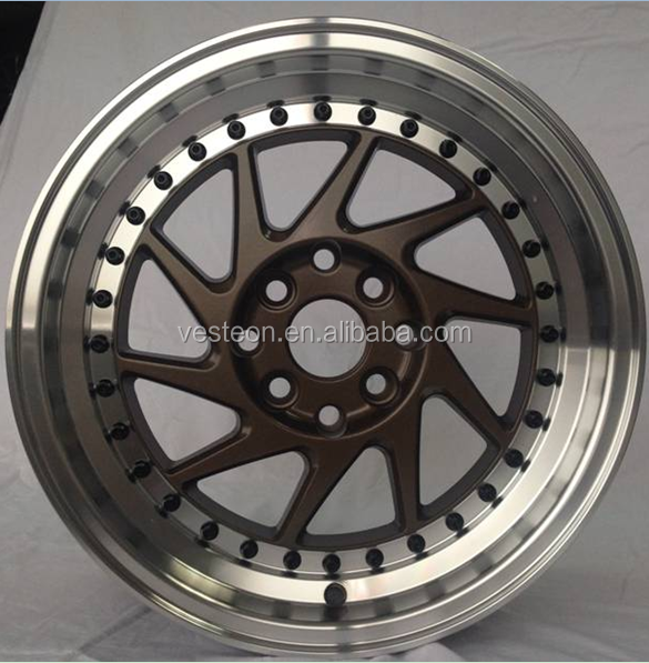 new fashion 15 16 17 18 inch aluminum rim alloy car wheel