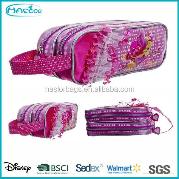 Cute Elfin 2 Zipper Pencil Bag /Double Sided Pencil Case for Girls