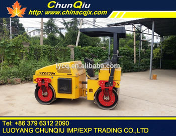 Chinese hot sale 3 ton double drum hydraulic vibration compactor roller