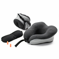 Home office train plane rest support folding promotional gift u shape neck pillow case