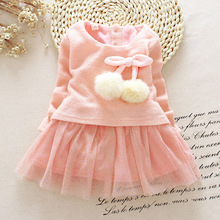 Autumn Winter Long-sleeved Princess Dress Party Birthday wedding princess Toddler baby Girls Clothes Children Kids Girl Dresses