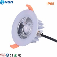 for Internet coffee house waterproof light IP65 downlight celling light shower room circle downlight milk white downlight